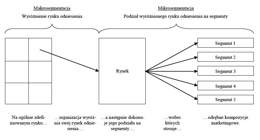 podział na mikrosegmentację i makrosegmentację